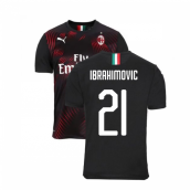 2019-2020 AC Milan Puma Third Football Shirt (Ibrahimovic 21)