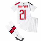 2019-20 AC Milan Away Mini Kit (Ibrahimovic 21)