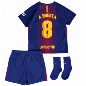 2017-18 Barcelona Home Baby Kit (A Iniesta 8)