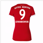 2017-18 Bayern Munich Home Womens Shirt (Lewandowski 9)