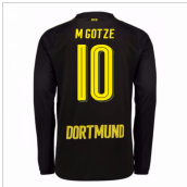 2017-18 Borussia Dortmund Away Long Sleeve Shirt (M Gotze 10) - Kids