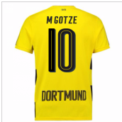 2017-18 Borussia Dortmund Home Short Sleeve Shirt (Kids) (M Gotze 10)