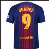 de715809d 2017-2018 Barcelona Home Shirt (Suarez 9) - Kids