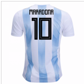 2018-19 Argentina Home Shirt (Maradona 10) - Kids