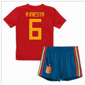 2018-19 Spain Home Mini Kit (A Iniesta 6)