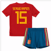 2018-19 Spain Home Mini Kit (Sergio Ramos 15)