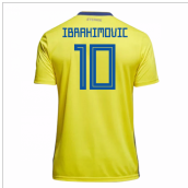 2018-19 Sweden Home Shirt (Ibrahimovic 10) - Kids