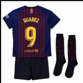 d3b2a8004 2018-2019 Barcelona Home Nike Little Boys Mini Kit (Suarez 9)