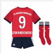 2018-2019 Bayern Munich Adidas Home Little Boys Mini Kit (Lewandowski 9)