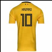 5b546f03c84 2018-2019 Belgium Away Adidas Football Shirt (Hazard 10) - Kids