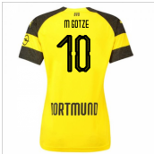 2018-2019 Borussia Dortmund Home Ladies Puma Shirt (M Gotze 10)