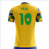 2020-2021 Brazil Home Concept Football Shirt (Pele 10) - Kids