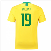 2018-2019 Brazil Home Nike Football Shirt (Willian 19) - Kids