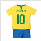 2018-2019 Brazil Home Nike Little Boys Mini Kit (Neymar Jr 10)