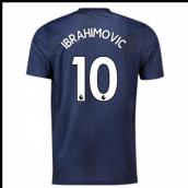 17367d9c0 2018-2019 Man Utd Adidas Third Football Shirt (Ibrahimovic 10)
