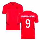 2019-2020 Bayern Munich Adidas Training Shirt (Red) (LEWANDOWSKI 9)