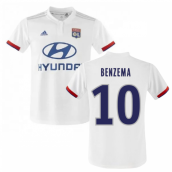 2019-2020 Olympique Lyon Adidas Home Football Shirt (BENZEMA 10)