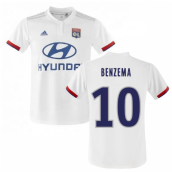 2019-2020 Olympique Lyon Adidas Home Football Shirt (Kids) (BENZEMA 10)