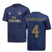 2019-2020 Real Madrid Adidas Away Shirt (Kids) (SERGIO RAMOS 4)