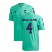 2019-2020 Real Madrid Adidas EU Training Shirt (Green) (SERGIO RAMOS 4)