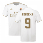 2019-2020 Real Madrid Adidas Home Football Shirt (BENZEMA 9)