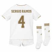 2019-2020 Real Madrid Adidas Home Full Kit (Kids) (SERGIO RAMOS 4)