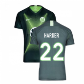 2019-2020 VFL Wolfsburg Home Nike Football Shirt (Harder 22)