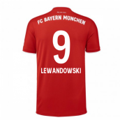 2020-2021 Bayern Munich Adidas Home Football Shirt (LEWANDOWSKI 9)