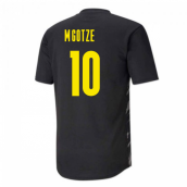 2020-2021 Borussia Dortmund Puma Warm Up Shirt (Black-Asphalt) (M.GOTZE 10)