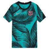 2020-2021 Barcelona CL Pre-Match Training Shirt (Green) - Kids