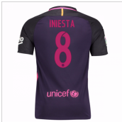 2016-17 Barcelona With Sponsor Away Shirt - (Kids) (Iniesta 8)