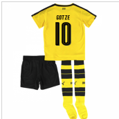 2016-17 Borrussia Dortmund Home Mini Kit (Gotze 10)