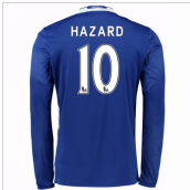 2016-17 Chelsea Home Long Sleeve Shirt (Hazard 10) - Kids