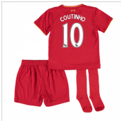 2016-17 Liverpool Home Mini Kit (Coutinho 10)