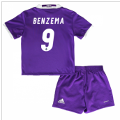 2016-17 Real Madrid Away Baby Kit (Benzema 9)