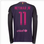 2016-17 Barcelona Away Long Sleeve Shirt (Neymar JR 11)