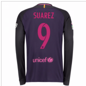 2016-17 Barcelona Away Long Sleeve Shirt (Suarez 9)