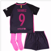 2016-17 Barcelona Away Mini Kit (Suarez 9)