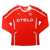 2013-14 Fortuna Dusseldorf Puma Authentic Home Long Sleeve Football Shirt