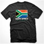 South Africa Soccer T-shirt (black)