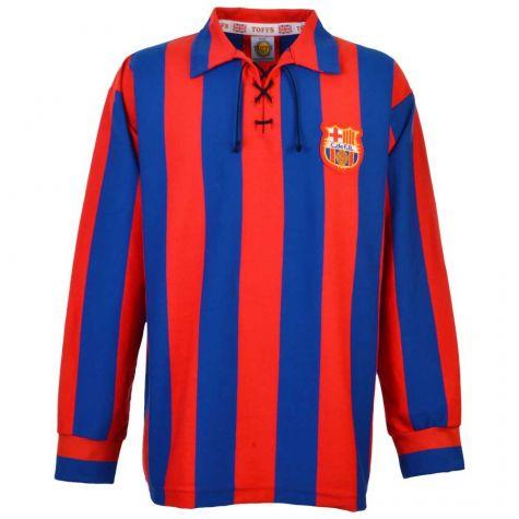 more photos 7ba0b 69b67 Barcelona 1950s Retro Football Shirt