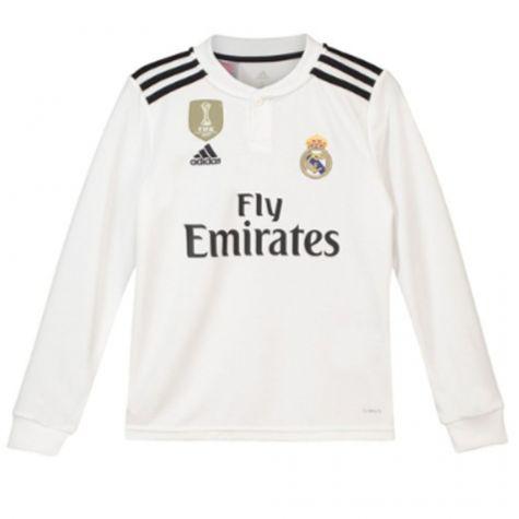 the best attitude d81ba 0dc6d Real Madrid 2018-2019 Home Long Sleeve Shirt (Kids)