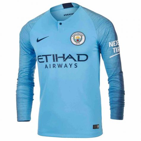 Man City 2018-2019 Home Long Sleeve Shirt