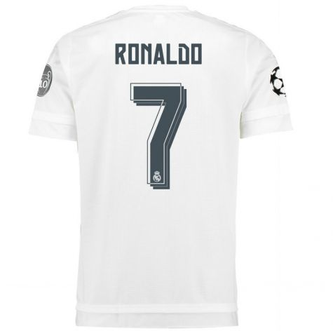 2015-2016 Real Madrid UCL Home Shirt (Ronaldo 7) - Kids