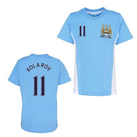 free shipping c7d1d 7beb9 Official Man City Training T-Shirt (Sky Blue) (Kolarov 11)