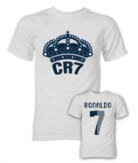 sports shoes bc194 439a7 Cristiano Ronaldo CR7 Real Madrid T-Shirt (White)