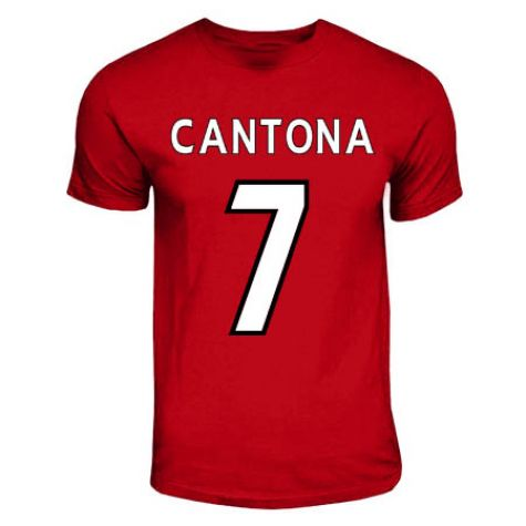 Eric Cantona Manchester United Hero T Shirt Red Tshirtredkids Tshirtred 18 19 Teamzo Com