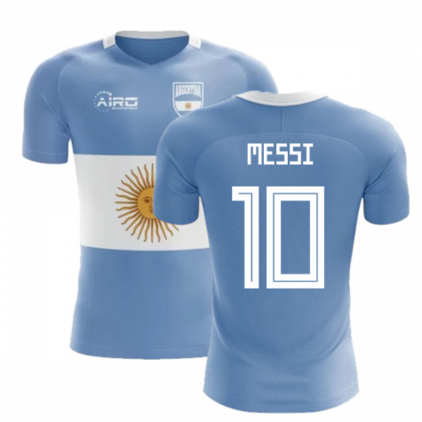 timeless design 5de2c 697d4 2018-2019 Argentina Flag Concept Football Shirt (Messi 10)