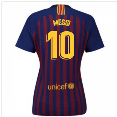 hot sale online f9f47 7c525 2018-2019 Barcelona Home Nike Ladies Shirt (Messi 10)