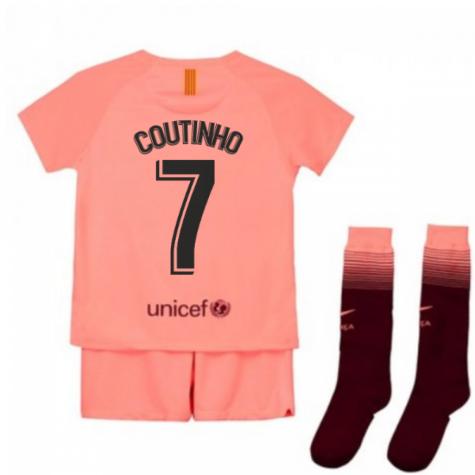 Tim Short Hazard >> 2018-2019 Barcelona Third Nike Little Boys Mini Kit (Coutinho 7) [919305-694-126327] - $74.40 ...